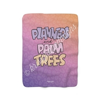 50x60 Sherpa Blanket - Planners & Palm Trees