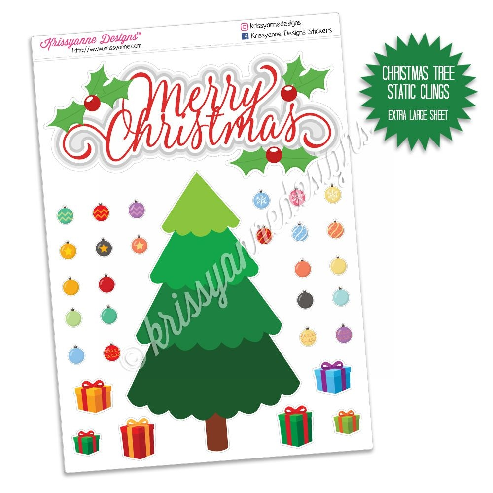 Holiday Static Clings Christmas Tree