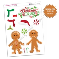 Holiday Static Clings - Gingerbread Cookies