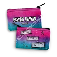 Two Sided Zippered Coin Pouch - Keep Austin Wild