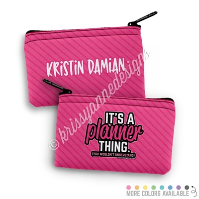 Two Sided Zippered Coin Pouch - Planner Thing