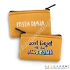 Two Sided Zippered Coin Pouch - DFTBA