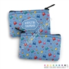Two Sided Zippered Coin Pouch - Happy Steve
