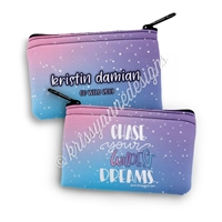 Two Sided Zipper Pouch - Chase Your Wildest Dreams
