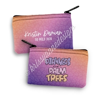 Small Zipper Pouch - Planners & Palm Trees