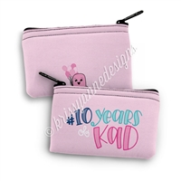 Small Zipper Pouch - 10 Years KAD