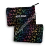 Small Zipper Pouch - Midnight Rainbow Doodle Hearts