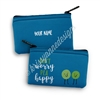 Small Zipper Pouch - Pea Happy