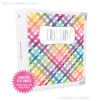 Signature KAD Sticker Binder - Punny Love Plaid