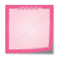 "3"" Sticky Note Pad - Note to Self"