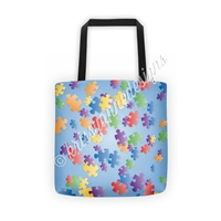 KAD Signature Tote - Puzzle Pieces