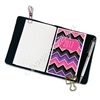 Traveler's Notebook Pocket Decal - Pink Black and Purple Chevron