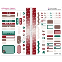 Functional Sampler Set for Pocket Traveler's Notebooks - Christmas Magic