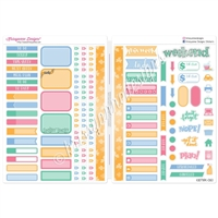Functional Sampler Set for B6 Traveler's Notebooks - Happy Go Lucky