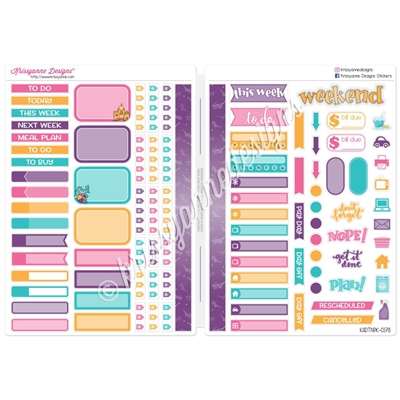 Functional Sampler Set for B6 Traveler's Notebooks - Sunny Days