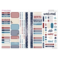 Functional Sampler Set for B6 Traveler's Notebooks - Grand Old Flag