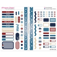 Functional Sampler Set for Pocket Traveler's Notebooks - Grand Old Flag