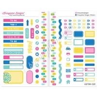 Functional Sampler Set for Pocket Traveler's Notebooks - Sweet Summertime