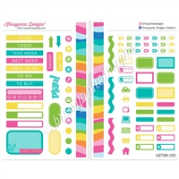 Functional Sampler Set for Pocket Traveler's Notebooks - Summer Paradise