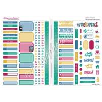 Functional Sampler Set for B6 Traveler's Notebooks - School is Cool