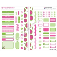 Functional Sampler Set for Pocket Traveler's Notebooks - One in a Melon