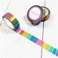 KAD Exclusive Rainbow Silver Stripe Washi