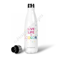 KAD Exclusive Water Bottle - Live Life in Color