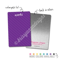Personalized Rectangle Metal Washi Card - Stripes