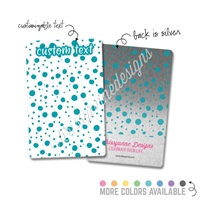 Personalized Rectangle Metal Washi Card - Spots