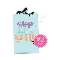 Washi Card - Stop in for a Spell