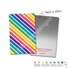 Rectangle Metal Washi Card - Stripes