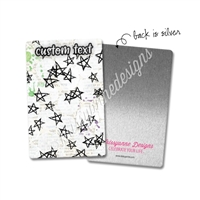 Personalized Rectangle Metal Washi Card - Something Wicked