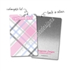 Personalized Rectangle Metal Washi Card - October Plaid