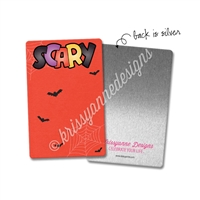 Rectangle Metal Washi Card - Trick or Treat