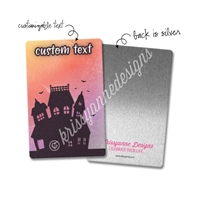 Personalized Rectangle Metal Washi Card - Trick or Treat