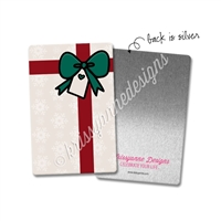Rectangle Metal Washi Card - Christmas Magic Present