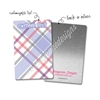 Personalized Rectangle Metal Washi Card - January Plaid