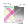 Personalized Rectangle Metal Washi Card - February Plaid