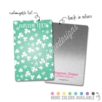 Personalized Rectangle Metal Washi Card - Happy Go Lucky