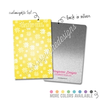Personalized Rectangle Metal Washi Card - Early Bird
