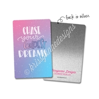 Rectangle Metal Washi Card - Wild Dreams