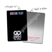 Personalized Rectangle Metal Washi Card - GO Wild 2019