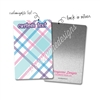 Personalized Rectangle Metal Washi Card - April Plaid