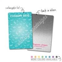 Personalized Rectangle Metal Washi Card - Sunny Days