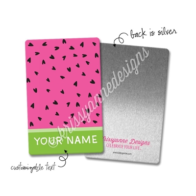 Personalized Rectangle Metal Washi Card - One in a Melon