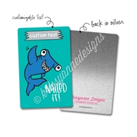 Personalized Rectangle Metal Washi Card - Nailed It