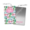 Personalized Rectangle Metal Washi Card - Holly Jolly Christmas Presents