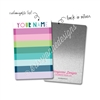 Personalized Rectangle Metal Washi Card - Winter Stripes