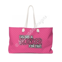 KAD Extra Large Weekender Tote - Sticker for That