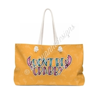 KAD Extra Large Weekender Tote - Crabby